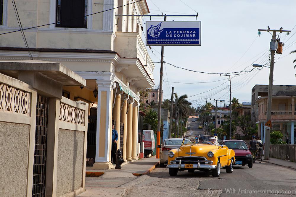 Central America, Cuba, Cojimar. La Terraza Bar, a local haunt of Ernest Hemingway.