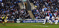 Photo: Gareth Davies.<br />Reading v West Ham United. The Barclays Premiership. 01/01/2007.<br />Reading's Brynjar Gunnarsson (6) jumps highest to score Reading's first goal.