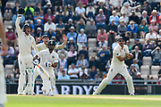 Wicket - Jos Buttler of England and Alastair Cook of England appeal for an lbw against Rishabh Pant of India who is given out during day two of the fourth SpecSavers International Test Match 2018 match between England and India at the Ageas Bowl, Southampton, United Kingdom on 31 August 2018.