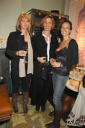 Left to right, MARIE D'ASPREMONT, AGLAE SEILERN and ANDREA DELLAL at a party hosted by Allegra Hicks to launch Lapo Elkann's fashion range in London held at Allegra Hicks, 28 Cadogan Place, London on 14th November 2007.<br />