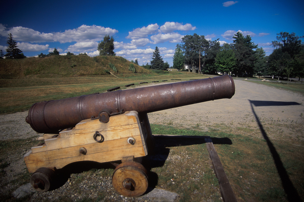 Revolutionary War Canon at Fort George, Castine, Maine, US