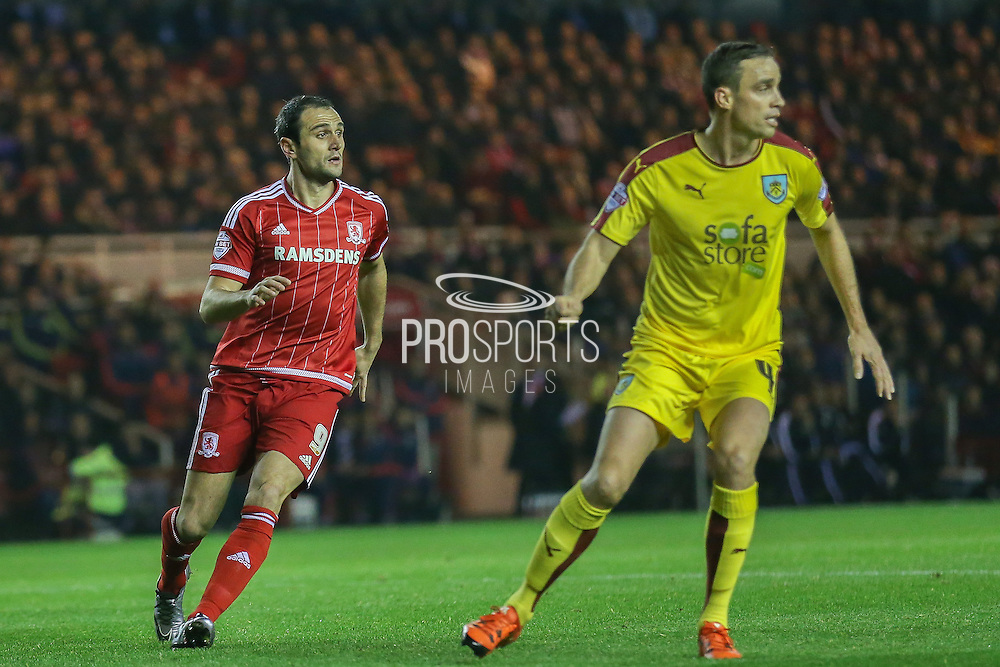 Middlesbrough forward Kike  during the Sky Bet Championship match between Middlesbrough and Burnley at the Riverside Stadium, Middlesbrough, England on 15 December 2015. Photo by Simon Davies.