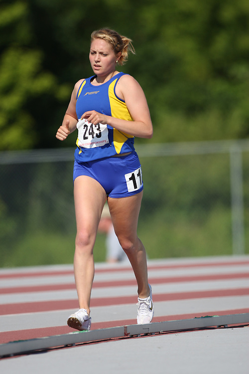 (London, Ontario---14/06/09)   Hilary Quirion of Lakehead A.C. competes in the  800m at the 2009 Athletics Ontario Junior Track and Field Championships. The meet was held in London, Ontario from June 13-14, 2009. Copyright photograph Sean Burges / Mundo Sport Images, 2009. www.mundosportimages.com / www.msievents.