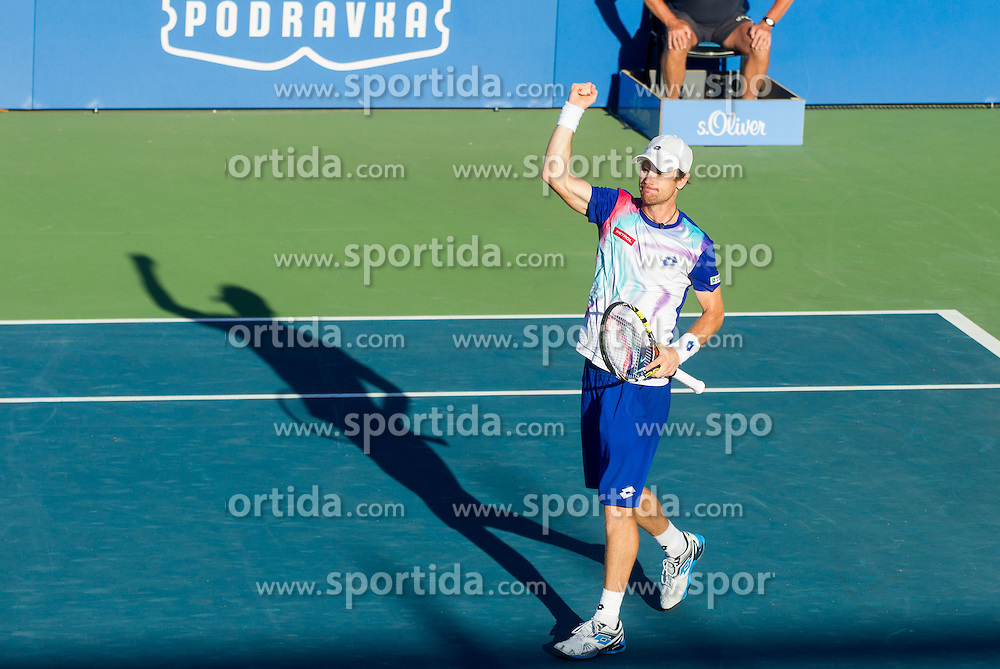 Blaz Kavcic of Slovenia during Quarterfinals during Day 5 of ATP Challenger Tilia Slovenia Open 2014 on July 11, 2014 in Tennis stadium SRC Marina, Portoroz / Portorose, Slovenia. Photo by Vid Ponikvar / Sportida