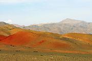 GOBI DESERT, MONGOLIA..09/01/2001.Landscape on Mount Ikh Bogd..(Photo by Heimo Aga).