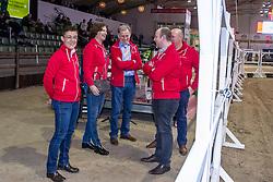 Raad van bestuur BWP, Michiels Martine, Mollenkens Nadine, Bauters Jozef, Colman Marc, De Pauw Kristof<br /> BWP hengstenkeuring - Lier 201<br /> © Hippo Foto - Dirk Caremans<br /> 18/01/2019