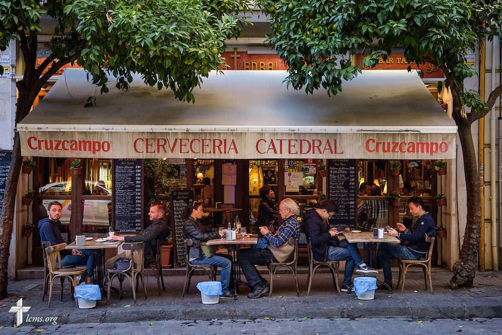 A streetside cafe on Monday, Nov. 7, 2016, in Seville, Spain.  LCMS Communications/Erik M. Lunsford