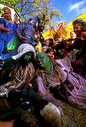 Stock photo of a group dressed as ogres at the Texas Renaissance Festival in Plantersville Texas
