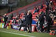 Charlton Head Coach Jose Riga after a missed chance during the Sky Bet Championship match between Charlton Athletic and Cardiff City at The Valley, London, England on 13 February 2016. Photo by Matthew Redman.