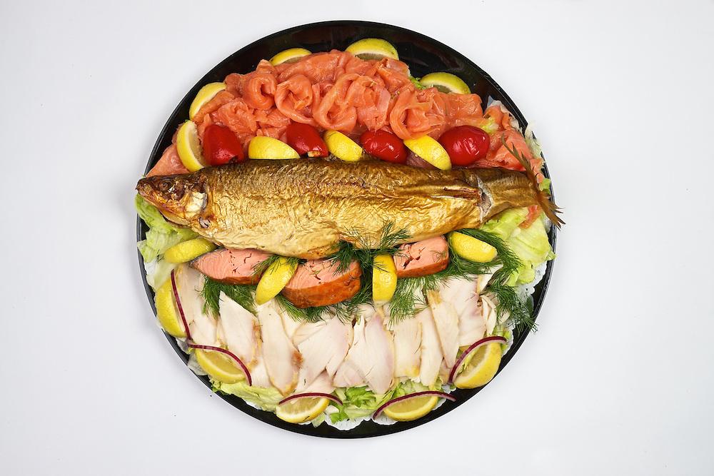 Carnegie Deli's Smoked Fish Platter