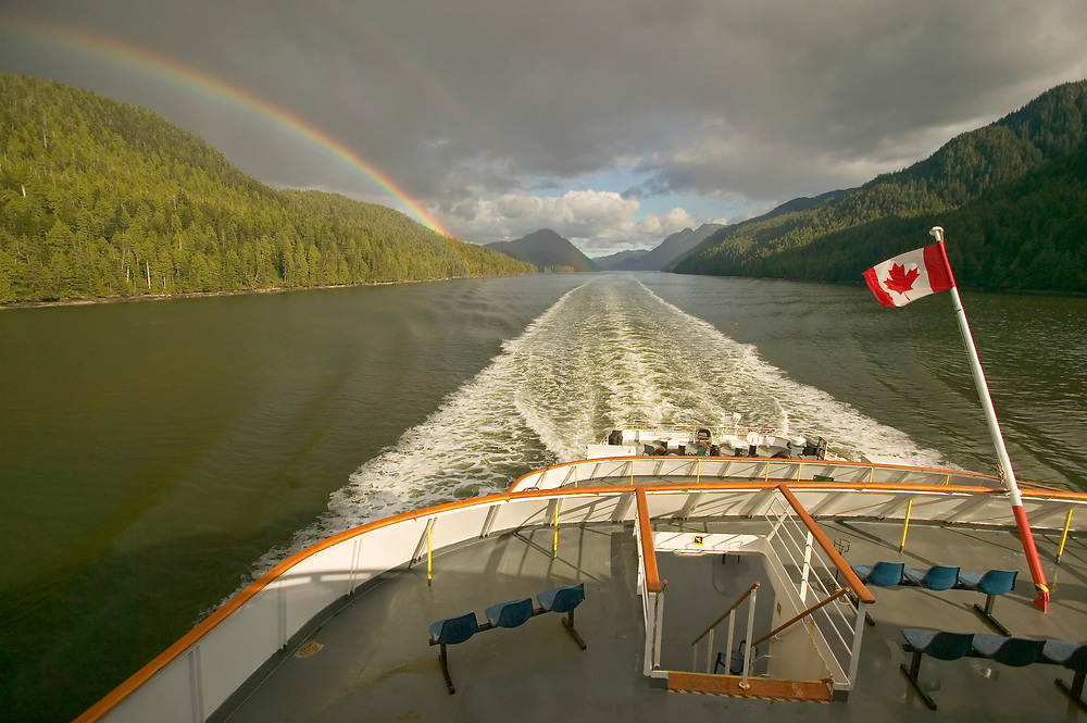 Canada, British Columbia, Inside Passage between Prince Ruppert and Port Hardy