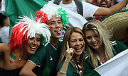 MOSCOW, RUSSIA - JUNE 17:  fans of Mexico react after match during the 2018 FIFA World Cup Russia group F match between Germany and Mexico at Luzhniki Stadium on June 17, 2018 in Moscow, Russia. , <br /> Football World Cup Russia 2018 - Germany vs Mexico 0:1, <br /> Football World Cup match in MOSCOW on June 17th 2018, Fussball-WM in Moskau, Deutschland - Mexiko, <br /> Honorarpflichtiges Foto, Fee liable image, Copyright &copy; ATP Amin JAMALI