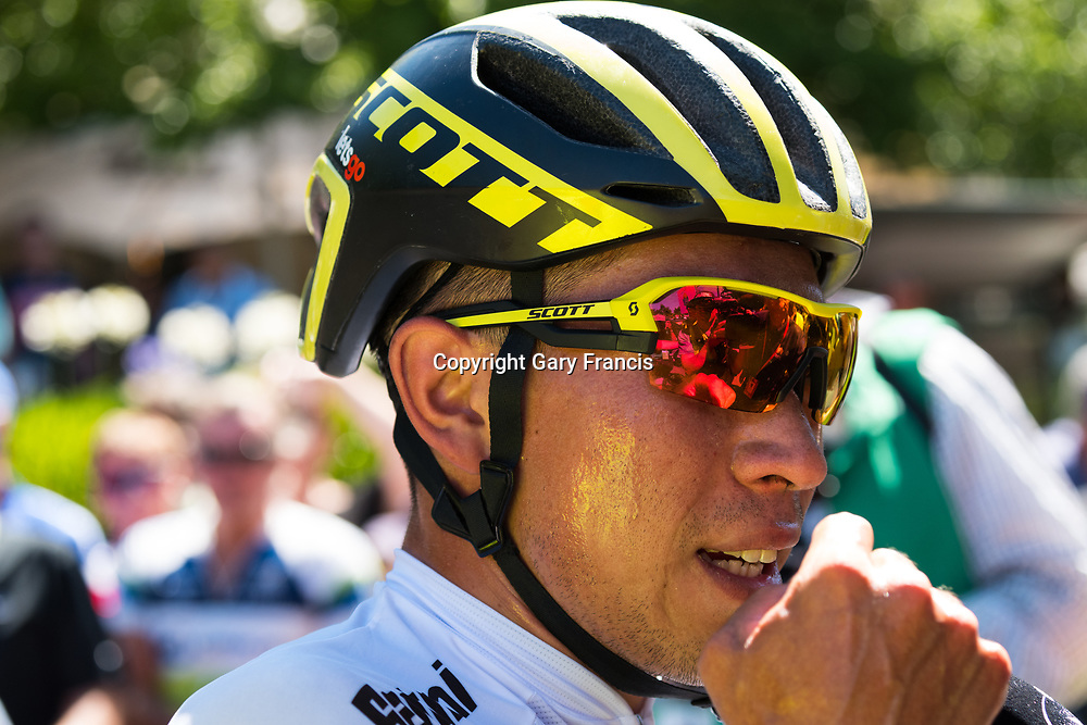 Caleb Ewan the winner of Stage 2, Unley to Stirling, of the Tour Down Under, Australia on the 17 of January 2018 ( Credit Image: © Gary Francis / ZUMA WIRE SERVICE )
