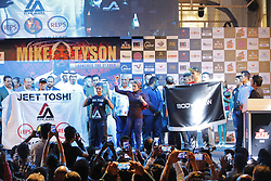 September 28, 2018 - Mumbai, Maharshtra, India - 28 sept 2018,  Mumbai - INDIA..Former World heavy weight boxing Legend Mike Tyson  Launchs the Kumite 1 MMA League for mixed martial arts..He said that ''The poorer you are, the better boxer you are because people from the Slums are the real fighters. (Credit Image: © Subhash Sharma/ZUMA Wire)
