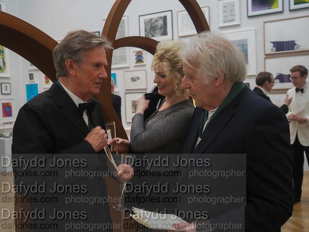 NIGEL HALL; ELEESA DADIANI,; MICHAEL SANDL; RA;  , Royal Academy of Arts Annual Dinner. Burlington House, Piccadilly. London. 6 June 2017
