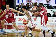 Moore Dallas<br /> Victoria Libertas Pesaro - EA7 Emporio Armani Milano<br /> Lega Basket Serie A 2017/2018<br /> Reggio Emilia, 02/01/2018<br /> Foto A.Giberti / Ciamillo - Castoria