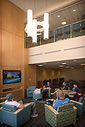 Residential Assistants enjoy a little quiet time before the Ohio University Residential Housing Phase 1 opening ceremony and ribbon cutting event on Saturday, August 29, 2015 at the Living Learning Center on the Ohio University campus in Athens, Ohio.