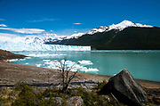 View of the Perito Moreno Glacier, Los Glaciares National Park, near El Calafate, Santa Cruz Province, Argentina.