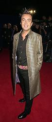 Designer JULIAN MacDONALD at a dinner in London on 24th october 2000.<br /> OID 4