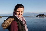 Allison in front of the River Corrib in Galway, County Galway, Ireland on Monday, June 24th 2013. (Photo by Brian Garfinkel)