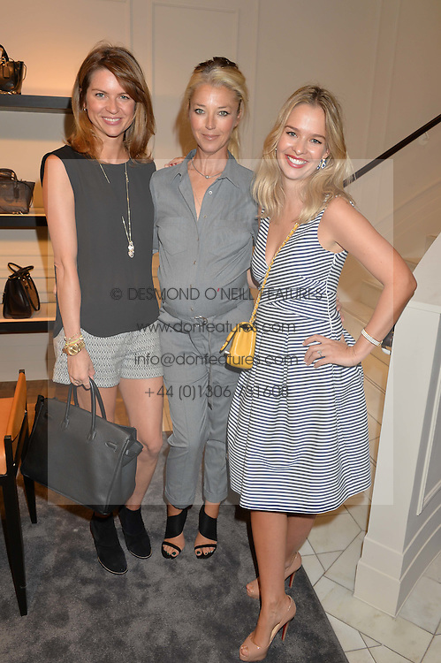 Left to right, GABRIELLA PEACOCK, TAMARA BECKWITH and MARISSA HERMER at a lunch hosted by Alice Naylor-Leyland and Tamara Beckwith in celebration of the Coach 2015 collection held at Coach, New Bond Street, London on 18th September 2014.