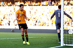 Raul Jimenez of Wolverhampton Wanderers celebrates scoring a goal to make it 1-1 - Mandatory by-line: Robbie Stephenson/JMP - 25/08/2019 - FOOTBALL - Molineux - Wolverhampton, England - Wolverhampton Wanderers v Burnley - Premier League