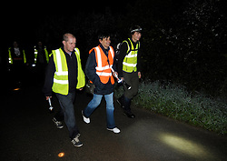 © Licensed to London News Pictures. 07/09/2013.  Raleighs Cross, Somerset, UK.  Somerset badger patrol, with campaigners against the cull looking for dead or wounded badgers on public footpaths and roads.  The Government has licensed a pilot badger cull in parts of Somerset and Gloucestershire as part of efforts to reduce bovine tuberculosis in cows on farms.  07 September 2013.<br /> Photo credit : Simon Chapman/LNP