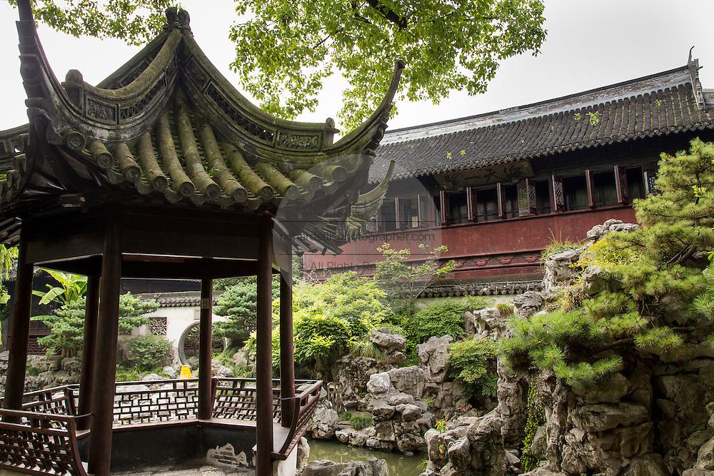 The toasting pavilion in Yu Yuan Gardens Shanghai, China