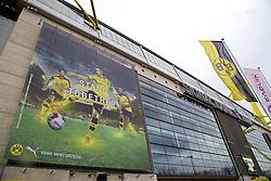 DORTMUND, GERMANY - Wednesday, April 6, 2016: Exterior views of Borussia Dortmund's Westfalenstadion ahead of the UEFA Europa League Quarter-Final 1st Leg match against Liverpool. (Pic by David Rawcliffe/Propaganda)