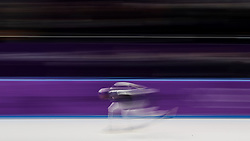 Shani Davis of the USA in the Men's 1000m Speed Skating at the Gangneung Oval during day fourteen of the PyeongChang 2018 Winter Olympic Games in South Korea.
