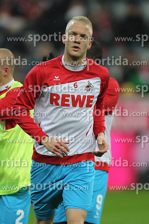 27.02.2015, Allianz Arena, Muenchen, GER, 1. FBL, FC Bayern Muenchen vs 1. FC K&ouml;ln, 23. Runde, im Bild Kevin Vogt #6 (1. FC Koeln) beim warm up // during the German Bundesliga 23rd round match between FC Bayern Munich and 1. FC K&ouml;ln at the Allianz Arena in Muenchen, Germany on 2015/02/27. EXPA Pictures &copy; 2015, PhotoCredit: EXPA/ Eibner-Pressefoto/ EXPA/ Kolbert<br /> <br /> *****ATTENTION - OUT of GER*****