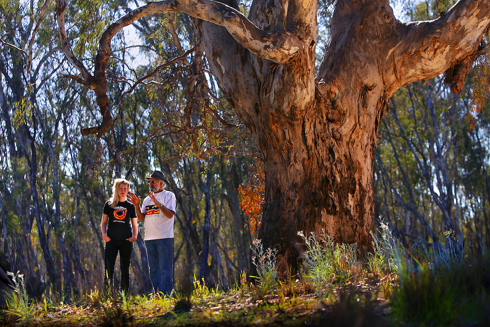 Wayne Atkinson, Yorta-Yorta - Dja-Dja Wurrung elder, and Allegra Curr, descendant of Edmund Curr, first squatter in the area.  A recent government report has recommended making the area around Barmah into four national parks, to protect the world s last big redgum forest, which is currently dying.   Pic By Craig Sillitoe 20070906 SPECIALX 000 melbourne photographers, commercial photographers, industrial photographers, corporate photographer, architectural photographers, This photograph can be used for non commercial uses with attribution. Credit: Craig Sillitoe Photography / http://www.csillitoe.com<br />