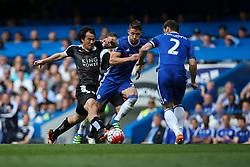 Shinji Okazaki of Leicester City on the attack - Mandatory byline: Jason Brown/JMP - 15/05/2016 - FOOTBALL - London, Stamford Bridge - Chelsea v Leicester City - Barclays Premier League