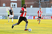 Hiram Boateng (44) of Exeter City during the EFL Sky Bet League 2 match between Exeter City and Lincoln City at St James' Park, Exeter, England on 17 May 2018. Picture by Graham Hunt.