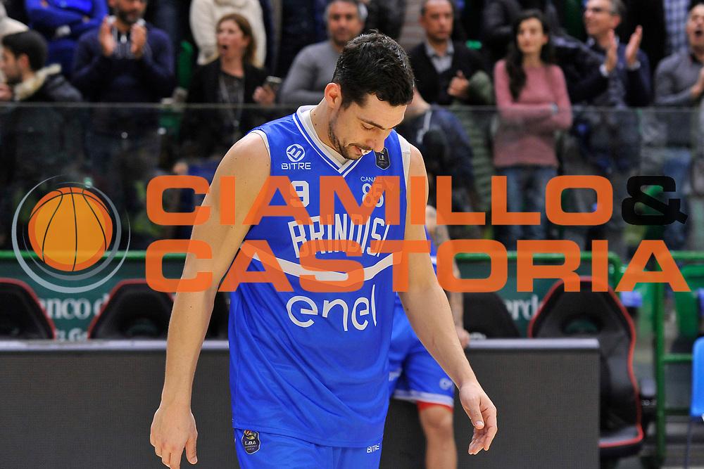 Marco Cardillo<br /> Banco di Sardegna Dinamo Sassari - Enel New Basket Brindisi<br /> LegaBasket Serie A LBA Poste Mobile 2016/2017<br /> Sassari 02/04/2017<br /> Foto Ciamillo-Castoria