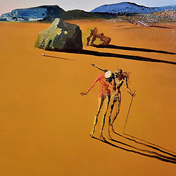 Salvador Dali, Landscape with a Girl Skipping Rope (detail), Scottish National Gallery of Modern Art  (Modern One) Surreal Encounters Collection, Edinburgh, 2nd June 2016, <br /> (c) Brian Anderson   Edinburgh Elite media