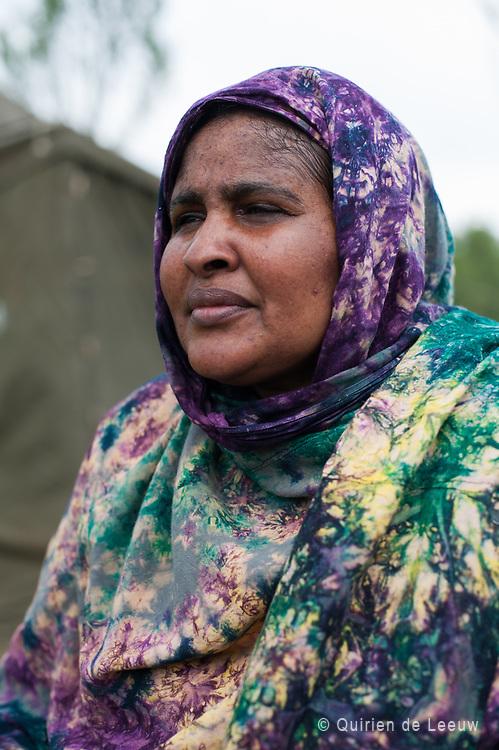 Somalische vrouw in vluchtelingenkamp Ter Apel