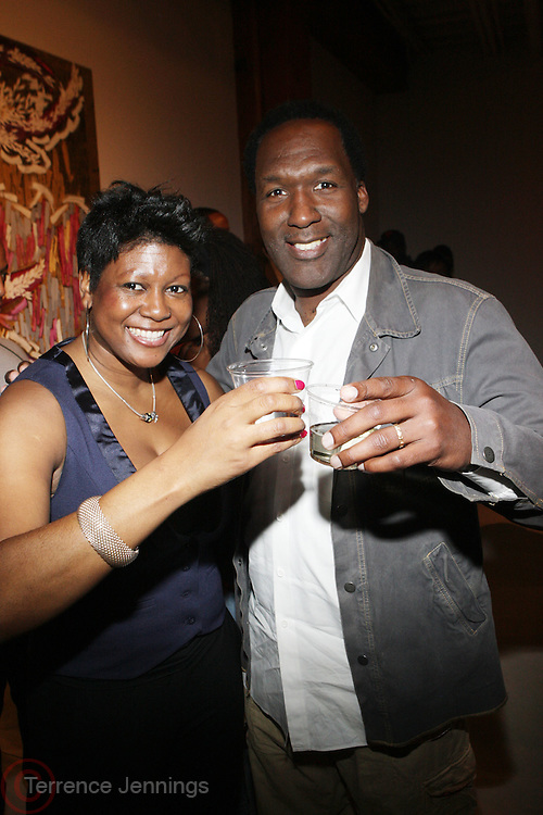 l to r: Dot Nathan Wilson and Anthony Jamison at The American Black Film Festival New York Buzz Party Sponsored by New York Women in Film & Television hosted by Tsia Moses on April 30, 2009 held at Sundaram Tagore Gallery in NYC.