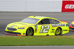 June 3, 2018 - Long Pond, PA, U.S. - LONG POND, PA - JUNE 03:  Ryan Blaney (12) drives the Menards/Duracell Ford during the Monster Energy NASCAR Cup Series - Pocono 400 on June 3, 2018 at Pocono Raceway in Long Pond, PA.  (Photo by Rich Graessle/Icon Sportswire) (Credit Image: © Rich Graessle/Icon SMI via ZUMA Press)
