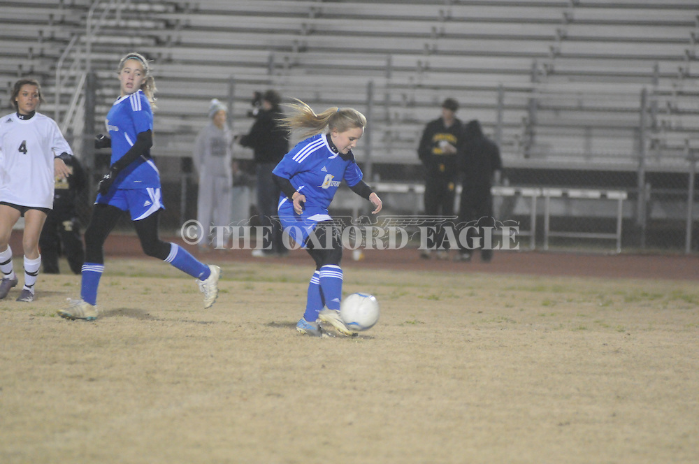 Oxford High vs. Starkville in girls MHSAA playoff soccer action in Starkville, Miss. on Tuesday, January 22, 2013. Starkville won 4-0.