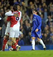 Wayne Bridge (Chelsea) shows his despair at the end of the match,as Monaco celebrate. Chelsea v Monaco. Champions league semi final 2nd leg. 5/5/2004. <br /> <br /> Photo: Andrew Cowie, Digitalsport<br /> NORWAY ONLY