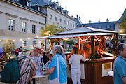 Elbhangfest, Weindorf, Schloss Pillnitz, Dresden, Sachsen, Deutschland.|.Elbhangfest (feast), wine village, Pillnitz Castle, Dresden, Germany