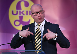 Bekanntgabe des neuen UKIP-Parteivorsitzenden in London / 281116 *** LONDON, UK 28TH NOVEMBER 2016: New Ukip Leader Paul Nuttall at the Announcement of The New UKIP Leader at The Emmanuel Center, London, England. 28th November 2016.
