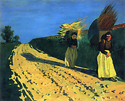 Wood-bearing women by Felix Edouard Vallotton (December 28, 1865 – December 29, 1925) was a Swiss painter and printmaker associated with Les Nabis