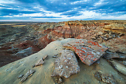 Colorful badlands in the Bighorn Basin of Wyoming