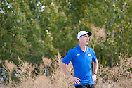 Timberline (Boise) coach Ty Axtman. Bob Firman Invitational, September 24, 2016 at Eagle Island State Park, Eagle, Idaho.