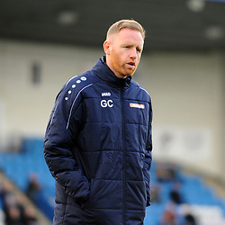 TELFORD COPYRIGHT MIKE SHERIDAN Gavin Cowan during the Vanarama National League Conference North fixture between AFC Telford United and Guiseley on Saturday, October 19, 2019.<br /> <br /> Picture credit: Mike Sheridan/Ultrapress<br /> <br /> MS201920-026