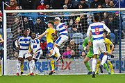 Goal - Jack Bidwell (3) of Queens Park Rangers scores a goal to make the score 2-1 during the The FA Cup 3rd round match between Queens Park Rangers and Leeds United at the Loftus Road Stadium, London, England on 6 January 2019.
