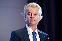 """02 OCT 2010, BERLIN/GERMANY:<br /> Geert Wilders, Vorsitzender Partij voor de Vrijheid Niederlande, haelt eine Rede, Veranstaltung """"Islam und Integration"""", Hotel Berlin<br /> IMAGE: 20101002-01-051"""