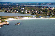 Bailey's Beach, Spouting Rock Beach Association, Ocean Drive Newport mansion aerial photo.